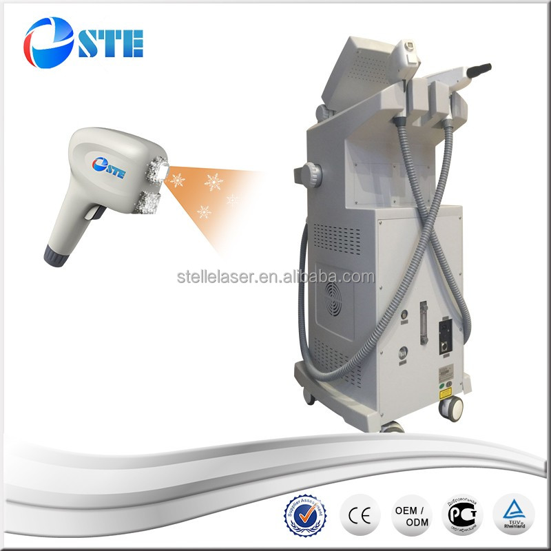 Two handle in one beauty device hair removal tattoo removal 808nm Diode laser with Nd:YAG laser