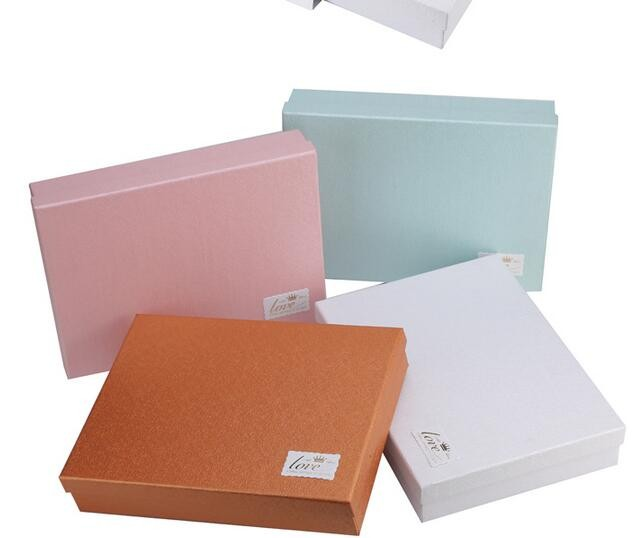High quality custom special paper white cosmetic gift packaging box