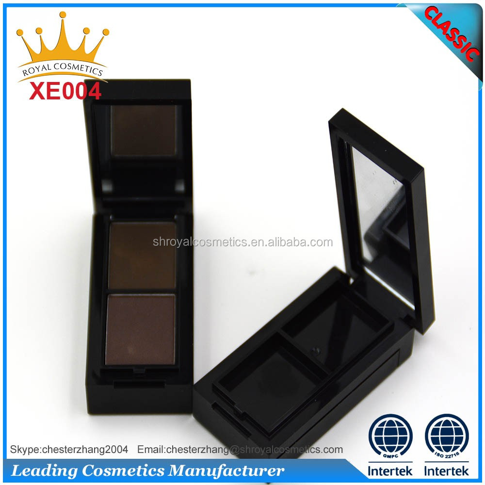 newest makeup natural eyebrow powder 2 colors palette OEM