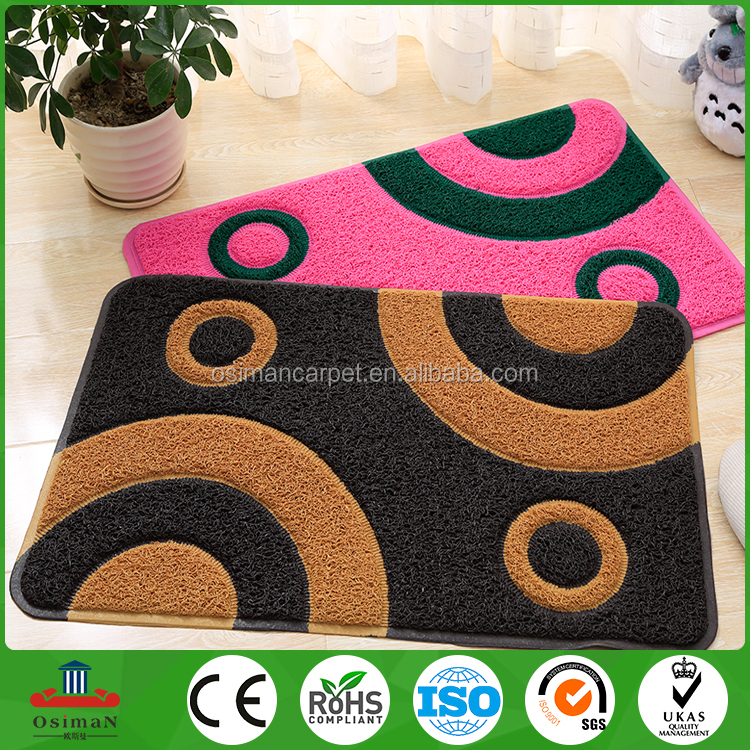 Professional manufacturer PVC embossed door mat with logo