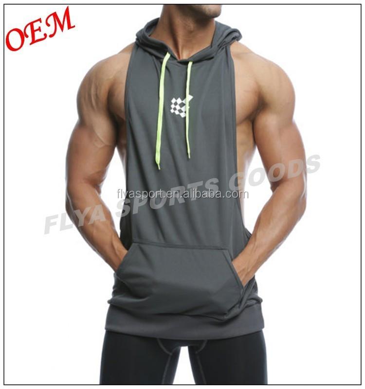 Oem Wholesale Custom Mens Plain Racerback Fitness Muscle