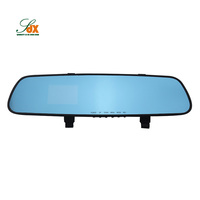 Manufacture Rearview 2.4 Lens Mirror Auto Dvrs Car Dvr Parking Video Recorder