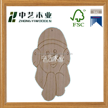 factory supplier selling FSC OEM home decorating hanging wooden christmas sign art&crafts for kids gift