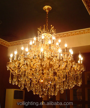 Luxury house design crystal chandelier hanging lamp hall lighting