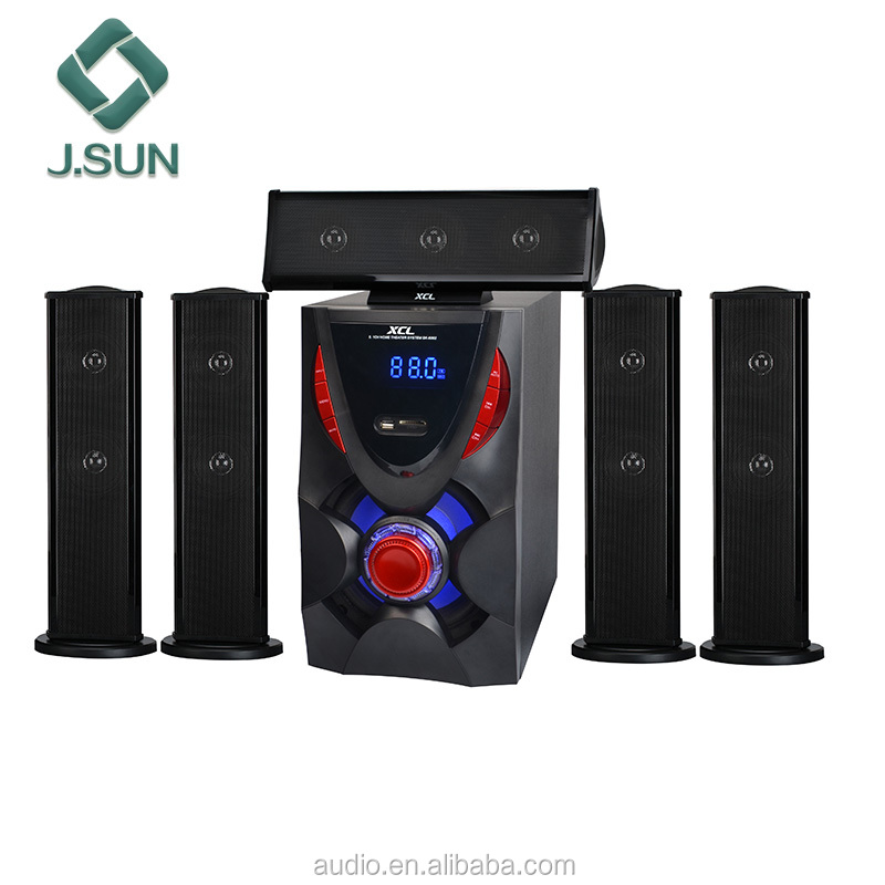 5.1 active home theater dj speaker pa systems with power amplifier sound standard