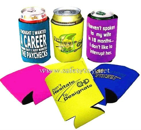 inflatable foam can holder/thick foam stubby holder