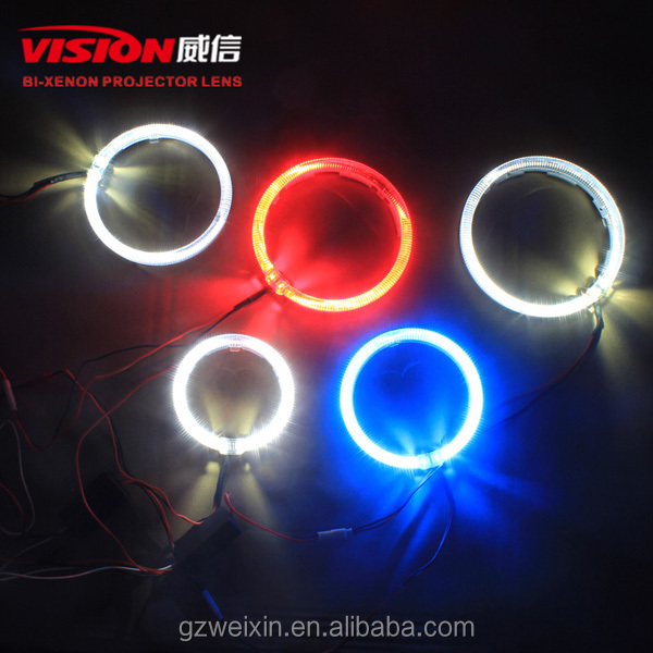 Bi-xenon projector lens Rgb blue tooth angel eyes Rgb halo ring