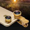 Universal clip 3 In 1 wide Angle Macro Fish Eye Mobile Phone Camera Lens For iPhone 4S 5S 6 For Samsung HTC All smartphone