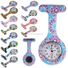 Wholesale colorful silicone nures watch,pocket watch for nurse