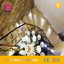 Natural Marble Flooring Tiles For Stair Step Europe Style For Living Room