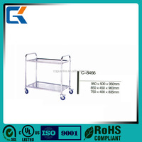 wholesale dismountable stainless steel serving dinner cart for hotel
