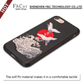 2017 hot new products mobile phone accessories for iphone 7 wearproof and colorfast in surface embroidery case