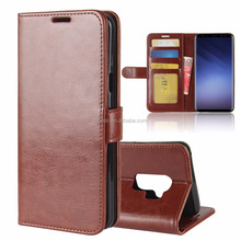 Luxury PU Leather Wallet Card Case Cover Flip For Samsung Galaxy S9 / S9 Plus
