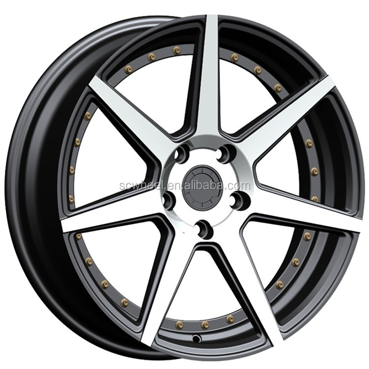 different size vossen replica alloy car rims wheels with polishing SCR