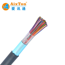 Factory Indoor And Outdoor Armoured Multi Pair Telephone Cable 2 20 50 100 300 Pairs Copper Conductor Jelly Filled