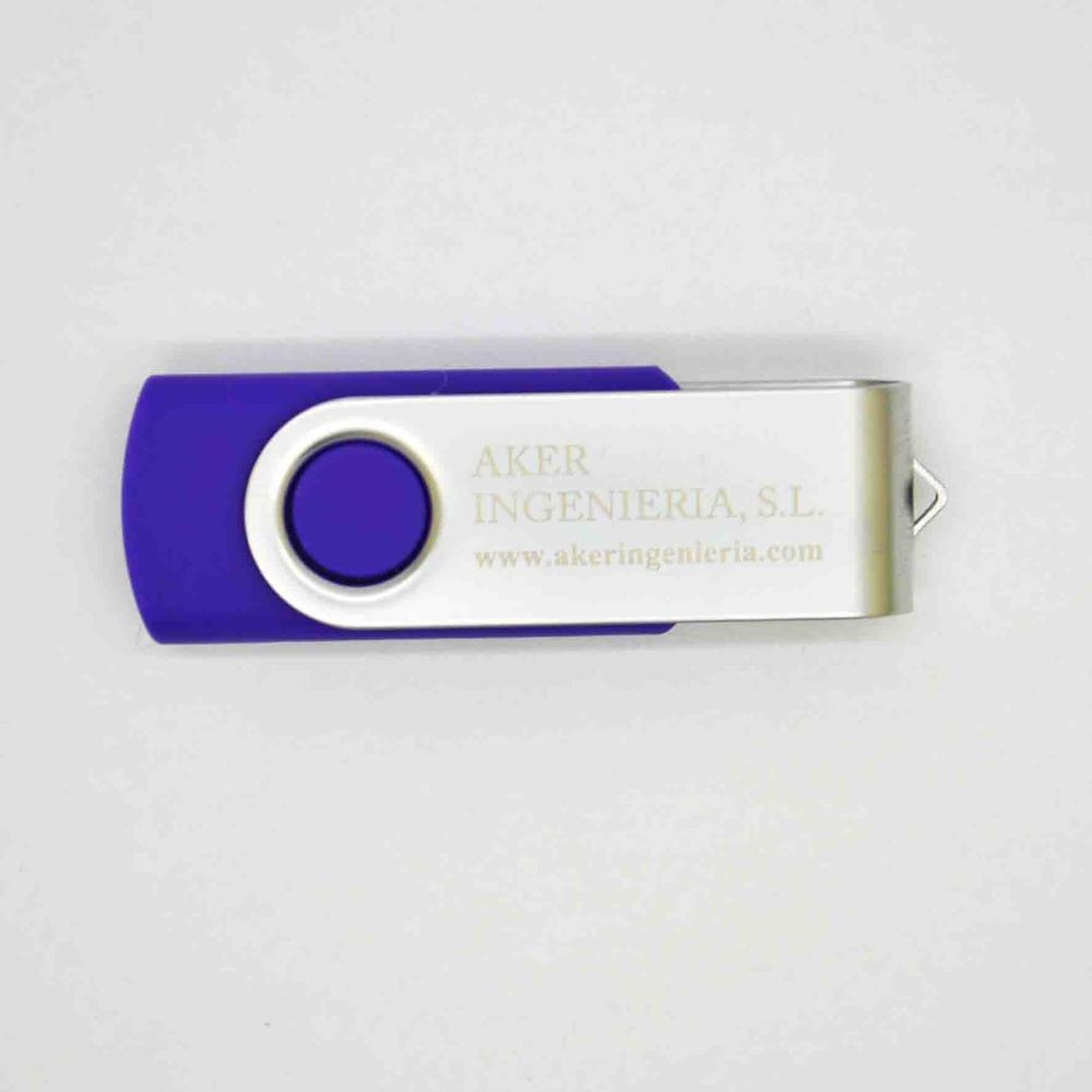 Hot sale Customized LOGO 2GB-64GB Colorful swivel USB stick 2.0 for Wholesale