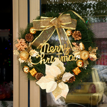 High Quality Decorative 40cm Gold Artificial Christmas Wreath for Christmas Decoration