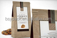 Kraft paper coffee & tea packaging bag/Stand up paper pouch for tea/mylar foil bag