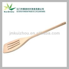 Slotted wooden spatula