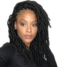 Curly Faux Locs Hair 18 inch Crochet Braid Afro Kinky Touch Synthetic Braiding Hair Goddess Locs Crochet Hair Extensions