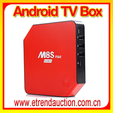 Full HD 1080P Amlogic S905 Quad Core Android TV box m8s Wireless Internet Live Streaming TV Box