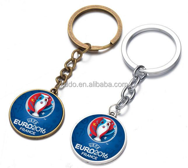 promotion gift 2016 european football france team logo metal key chain wholesale