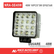 N2 wholesale 2017 car accessories 12V 24V led work lamp 48w led driving light for jeep,auto parts,atvs
