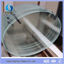 3-19mm Tempered round and ellipse ultra clear float Glass