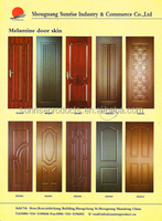 High-quality pvc/melamine coated or wooden veneer coated mdf wooden door