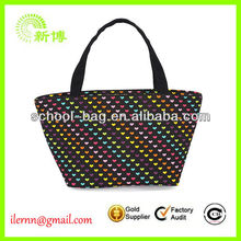 Recycly plastic coated tote bag with EN71 approved