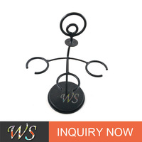 WS RD63 antique black wrought iron metal wine bottle holder/wine rack