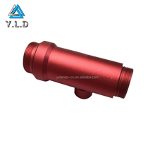 CNC Machining Service Custom Red Anodized Threaded Aluminum Connection Parts