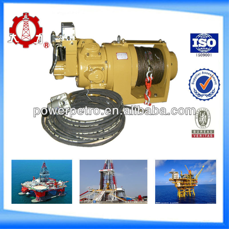 0.5 ton remote controlled air winch for drilling rig platform