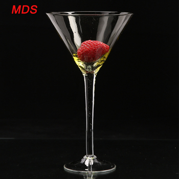 Clear mini glass martini vase centerpiece with stem
