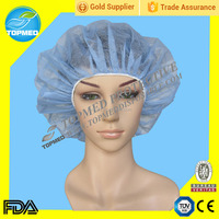 Disposable Non-Woven PP Bouffant Cap for Doctor and Nurse,CE &ISO13485