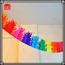 Colorful and cute design indoor paper garland party decorations LH06