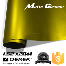 DEREK Satin Car Wrapping Film Matte Chrome PVC Vinyl ,Self Adhesive Film