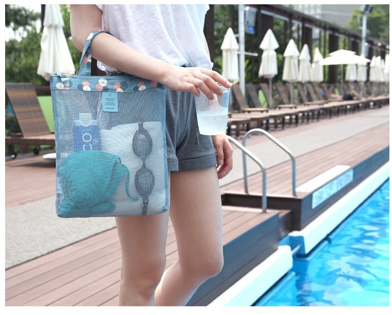 Summer swimming beach bag swimwear mesh receive bag wash gargle bag handbag