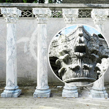 Stone carving marble house gate pillar designs for sale