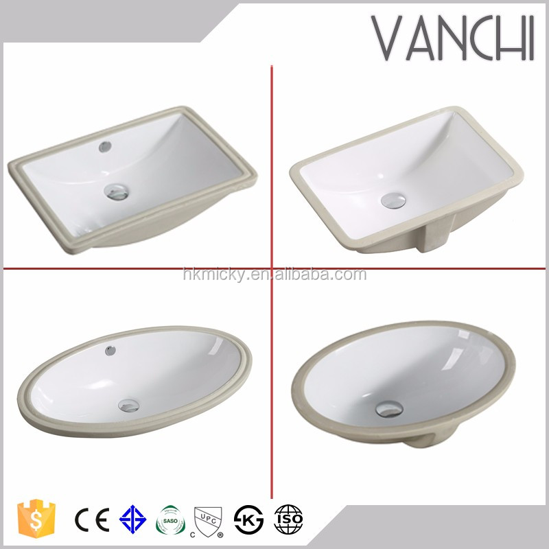 Ceramic lavabo round washstand porcelain oval undermount sinks