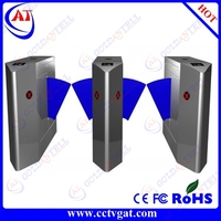 Electronic optical IC/ID card safety & flexiable metro automatic flap barrier