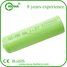 cheap rechargeable nimh aa 600mah 1.2v battery