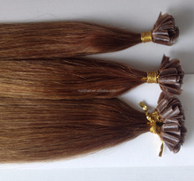 "New arrival 18"" 20"" 22"" pre-bonded tip hair products unprocessed honey brown nail hair no shedding"