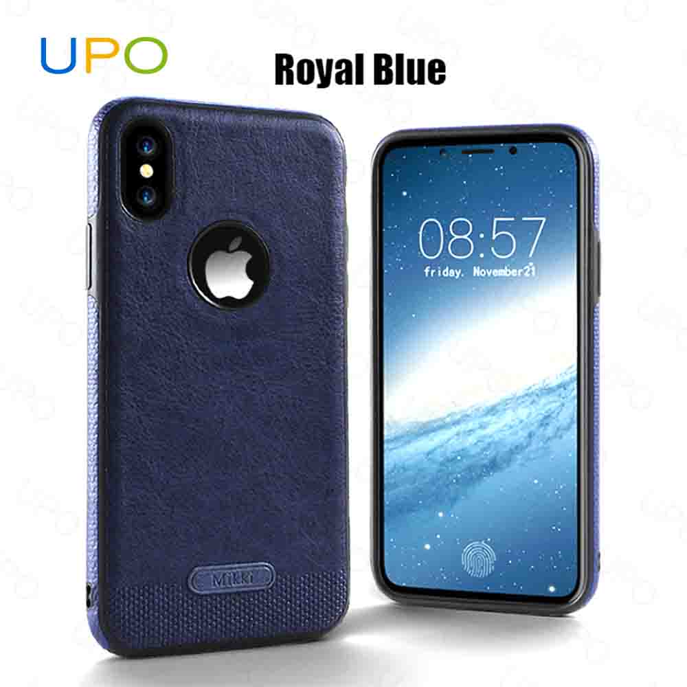 [UPO] new design phone back cover for iphone X,leather case for iphone X