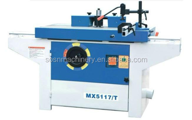 sliding table wood shaper spindle milling machine