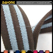 fashionable custom woven cotton striped webbing for pet