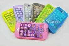 Crystal Clear TPU Gel Case Skin Cover Candy Color for iPhone 5 5S
