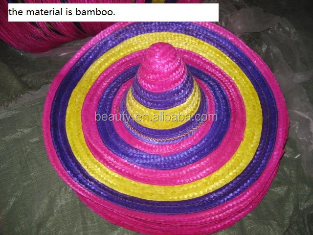 wheat straw hat Sombrero hat colorful straw hat