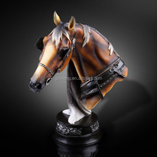 arts and crafts resin horse head bust statue , hand made resin bust for home decor