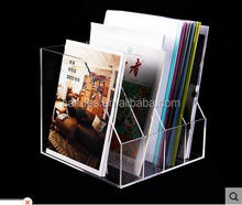 Manufacturing customized magazine clear acrylic table dispaly file stand racks for office
